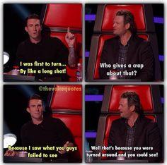 Hahahahahaha they are so funny #Adam Levine #Blake Shelton