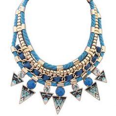 Mujeres atractivas Sólido Forma color Triángulo Colgante adornado collar para Vender - La Tienda En Online IGOGO.ES