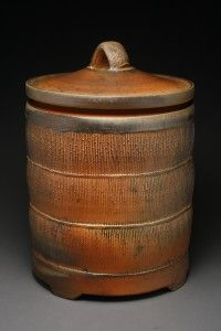 Bruce Cochrane  |  Covered earthenware jar. -- my niece has one of his pieces!