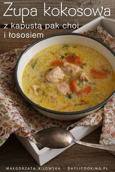 Fitness Workouts, Coconut Soup, Special Recipes, Korean Food, Soups And Stews, Cheeseburger Chowder, Soup Recipes, Carrots, Spicy