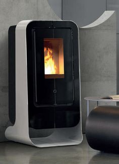 Pellet heating stove / contemporary / steel CIAO THERMOROSSI
