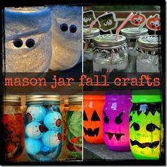 Holiday Crafts with Mason Jars | mason-jar-fall-crafts | holiday