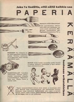 Paperinkeräys, 50-luvun alku