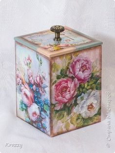 Decor items March 8 Decoupage Box for spices Rose Garden Painting Plywood 3 photos