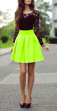 With a different colored and tiny bit longer skirt, I would wear this! Cute.