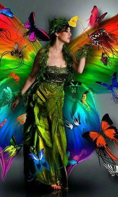 Rainbow butterfly fairy fantasy