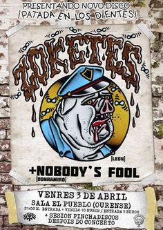 Zoketes + Nobody's fool en El Pueblo Café Cultural, Ourense concerto concierto music música
