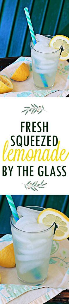 Fresh-Squeezed Lemonade by the Glass - Refreshing homemade lemonade couldn't be easier, one glass at a time! Whip some up and you'll be sipping before you know it.