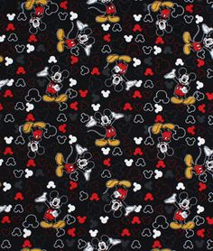 Springs Creative Disney Mickey Everyday Icons Toss Fabric