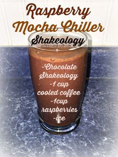 Try this Raspberry Mocha Chiller Shakeology recipe! Super delicious, and packed full of nutrients and even more protein! Awesome when you just can't stop drinking that coffee, or need an extra boost! Get a new Shakeology/green smoothie recipe every Wednesday by adding me on Facebook.com/angelinerstetzko