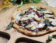 Pear & Blue Cheese Pizza Recipe | Abel & Cole
