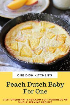 Single Serve Meals, Single Serving Recipes, Cooking For One, Meals For One, Small Meals, Batch Cooking, Dutch Desserts, Multi Cooker Recipes, Dutch Baby Recipe