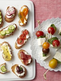 Crostini Bites  Use an extra-creamy ricotta as a base on your crostini. The fresh flavor complements savory and sweet toppings, like roast...