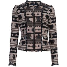 French Connection Pyramid Tile Jacket, Black/Multi (11.980 RUB) via Polyvore featuring outerwear и jackets