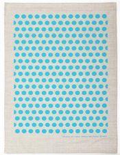Hand Printed Dance The Polka Tea Towel - Flax Linen