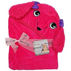 #bathing Super cozy and adorable hooded bath towel makes bath time fun. Check out our other #velour #animal designs for even more fun!