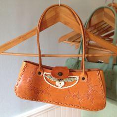 Leather Crochet Handbag Floral Bag. $149.90, via Etsy.