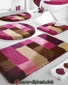 Pink and brown rug Diy Carpet, Rugs On Carpet, Carpets, Hall Carpet, Tapetes Diy, Homemade Rugs, Pom Pom Rug, Latch Hook Rugs, Tapis Design