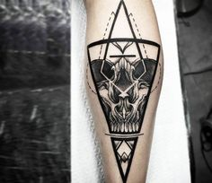Skull tattoo by Otheser Tattoo