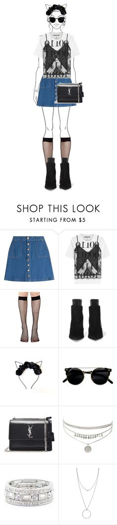 """""""Untitled #379"""" by mindongalsxy ❤ liked on Polyvore featuring HUGO, McQ by Alexander McQueen, Music Legs, Givenchy, Yves Saint Laurent, Sole Society, Botkier and Lollapalooza"""