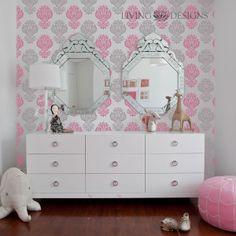 Plantillas decorativas para pintar y decorar paredes como - Papel para paredes decorativo ...