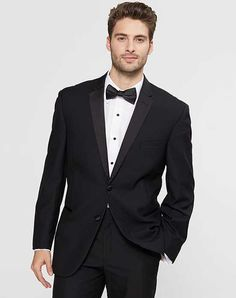 Sweet-Tempered Classic Regular Fit Black Tuxedo Notch Lapel Vented Tuxedos Quality Suits & Suit Separates