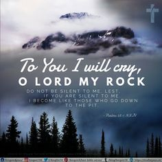 To You I will cry, O Lord my Rock: Do not be silent to me, Lest, if You are silent to me, I become like those who go down to the pit. Psalms 28:1 NKJV Best Bible Verses, Spiritual Needs, Psalms, You And I, Crying, Spirituality, Lord, You And Me, Spiritual