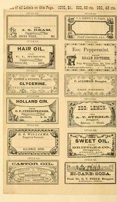 vintage drug store labels