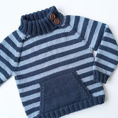 Ravelry: Albingenser pattern by Minstrikking Baby Boy Knitting Patterns, Baby Sweater Knitting Pattern, Knitting For Kids, Baby Born Clothes, Crochet Toddler, Boys Sweaters, Kind Mode, Pulls, Knitwear