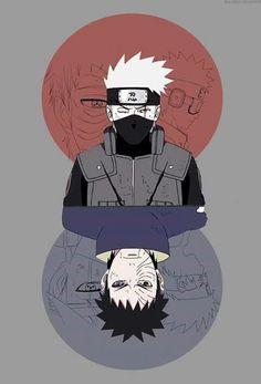 Obito and Kakashi - Naruto Shippuden Naruto Kakashi, Anime Naruto, Naruto Fan Art, Naruto Shippuden Sasuke, Naruto Wallpaper, Ps Wallpaper, Wallpapers Naruto, Wallpaper Naruto Shippuden, Animes Wallpapers