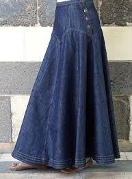 Resultado de imagen para long skirts #denimskirtfalda