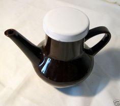 Vintage-alte-Melitta-Ceracron-Kanne-Kaffeekanne-dunkelbraun-m-hellem-Deckel