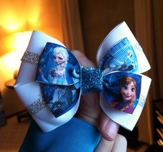 Frozen Inspired Bow  by CharlisBows on Etsy