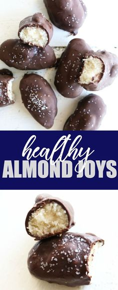 Homemade and healthy almond joy candies that only have FIVE ingredients and are low carb, gluten free, and vegan! Can't wait for you to try these!! thetoastedpinenut.com