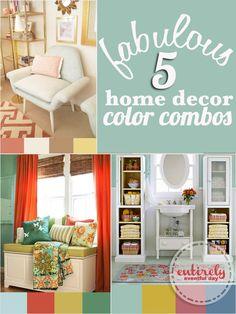 Home Decor Color Combinations ~ Entirely Eventful Day Colorful Interior Design, Colorful Decor, Design Interior, Home Decor Colors, House Colors, Color Combinations, Color Schemes, Home Hacks, Interior Decorating