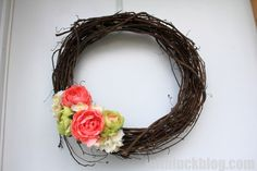 DIY a cute and easy Spring Wreath!