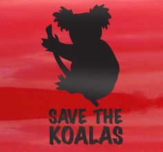 Naklejka dekoracyjna save koalas