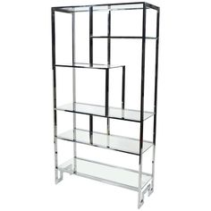 Milo Baughman Etagere by Design Institute America   From a unique collection of antique and modern shelves at https://www.1stdibs.com/furniture/storage-case-pieces/shelves/