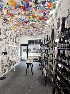 9 Aesop Stores that Revitalize Architectural Simplicity,Aesop Chelsea, New York / Aesop Design Department. Image Courtesy of Aesop Commercial Interior Design, Commercial Interiors, Visual Merchandising, Aesop Store, Vitrine Design, Retail Concepts, Store Interiors, Office Interiors, Restaurants