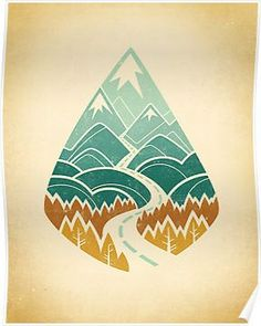'The Road Goes Ever On: Autumn' Art Print by Wayne Minnis Tassen Design, Doodle Drawing, Road Drawing, Illustrator, Doodles, Grafiti, Modelos 3d, Mountain Art, Art Inspo