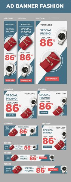 Ad Banner Fashion Template - Banners & Ads Web Elements