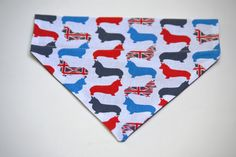 Union Jack corgis dog bandana