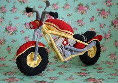 Moto Amigurumi par Mia Svensson _ Suédoise http://www.ravelry.com/patterns/library/bike