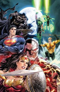 Shop Most Popular USA DC Justice League Global Shipping Eligible Items By Clicking Image! - Visit to grab an amazing super hero shirt now on sale! Héros Dc Comics, Dc Comics Characters, Batman Comics, Comic Books Art, Comic Art, Superman, Justice League 1, Univers Dc, Comic Manga