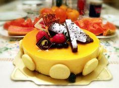 What a beautiful cake!Happy thanksgiving! - 32件のもぐもぐ - Thanksgiving Night Dessert - Mango Mousse Cake by MyRaX