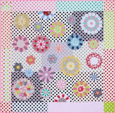There and Back Again quilt by Sue Daley. This quilt combines English paper piecing and needle turnappliqué.