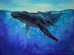 Relaxing whale song for meditating with nature. Whale Song, Whale Art, Whale Painting, Whale Illustration, Ocean Creatures, Magical Creatures, Humpback Whale, Ocean Art, Marine Life