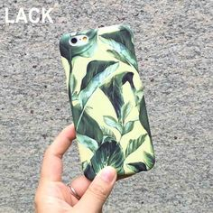 Ultra Thin Banana Leaf Case For iphone 6 Case For iphone 6S 6 Plus 5 5S Summer Cool Plants Leaves Hard Frosted Phone Cases Cover