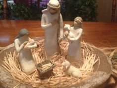 My Willow Tree Nativity complete with Manger