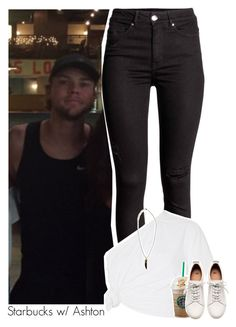 """Starbucks w/ Ashton"" by amberamelia-123 ❤ liked on Polyvore featuring Rosie Assoulin, Boohoo and H&M"
